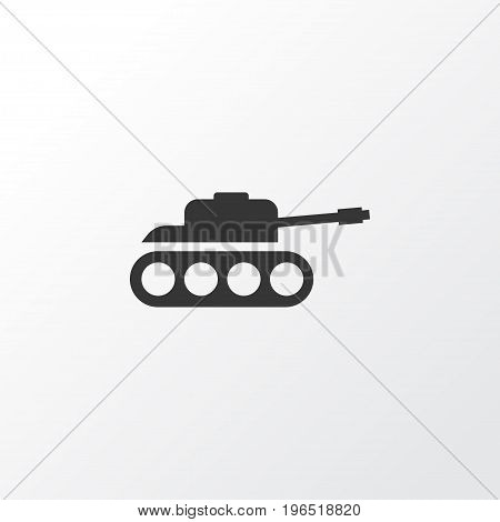 Tank Icon Symbol. Premium Quality Isolated Panzer Element In Trendy Style.