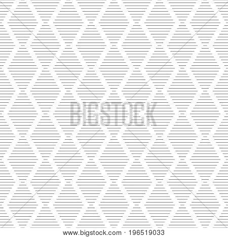 Vector seamless pattern. Modern stylish texture consisting of thin lines. Regularly repeating tiles with linear rhombuses diamonds. Contemporary geometrical design.