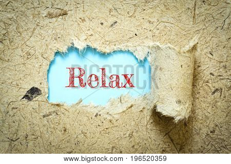 Text Relax on paper blue has Mulberry paper background you can apply to your product.