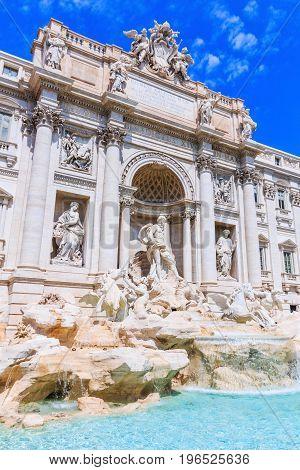 Rome Italy. Trevi Fountain (Fontana di Trevi).