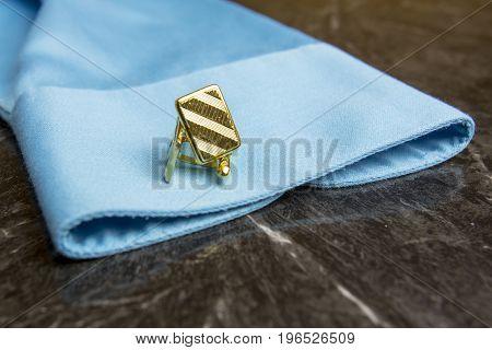 Gold Cuff Links On Dress Shirt