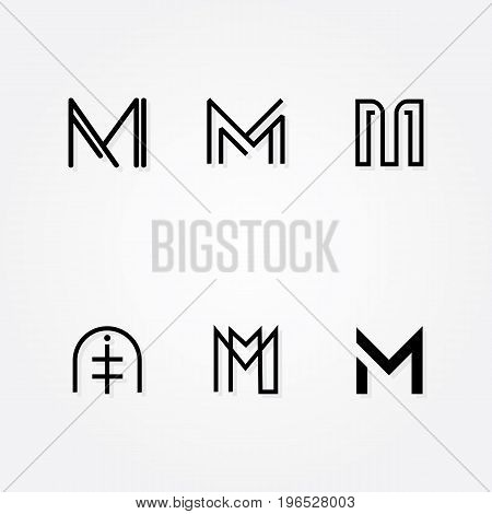 Various Letter M big logo typo pack for your company