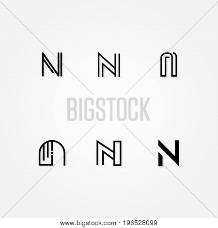 Various Letter N big logo typo pack for your company