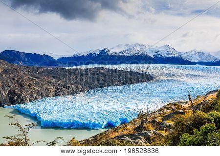 Torres Del Paine National Park Chile. Grey Glacier.