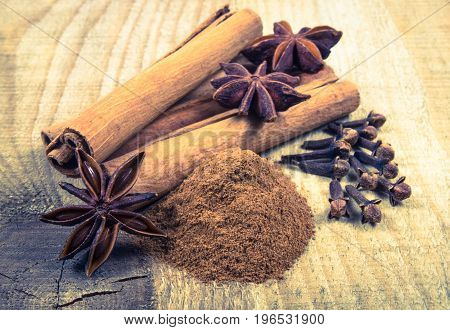 Warming Spices - Cinnamon, Star Anise, Cloves.