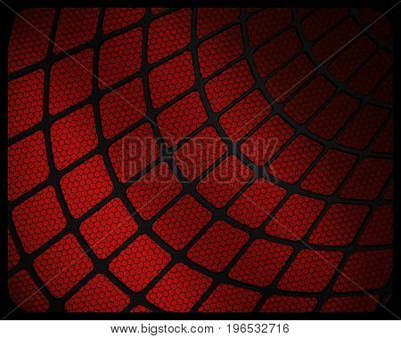 Abstract red color spiderweb texture background design