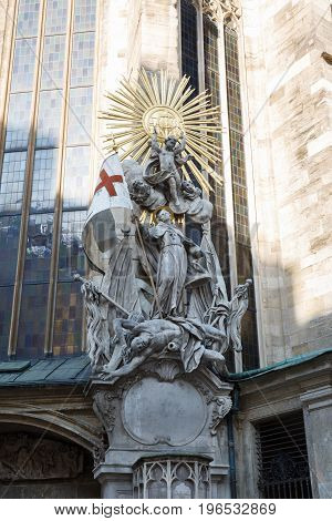 Pulpit Of Saint John Of Capistrano On The Outside Of St. Stephens Cathedral, Vienna