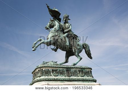 Statue Of The Archduke Charles Of Austria, Duke Of Teschen On The Heldenplatz, Vienna