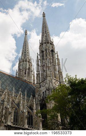 The Votive Church (votivkirche) Located On The Ringstrasse In Vienna