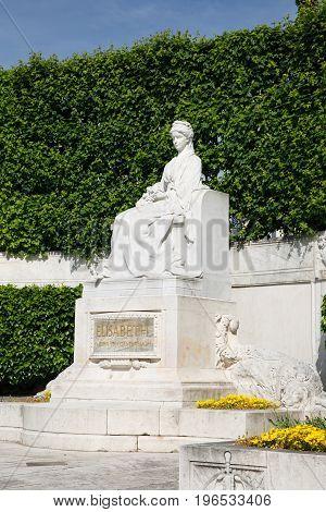 Statue Of Empress Elizabeth At Volksgarten Circa. Vienna