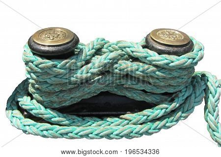 Sea rope on the white background. Isolated.