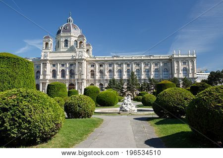 Beautiful View Of The Kunsthistorisches Museum (museum Of Fine Arts) And The Park. Vienna