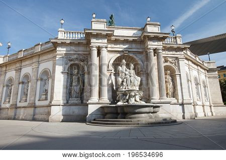 Albertina - An Art Museum Located In The Palace Of The Archduke Albrecht In Downtown Vienna
