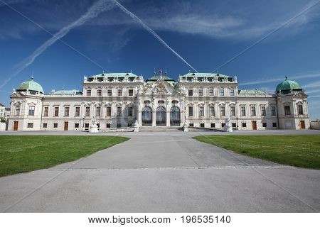 Palace Upper Belvedere, Built In The Eighteenth Century In The Baroque Style In Vienna