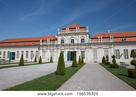 Lower Belvedere Palace Building Was Completed In The Year 1716 In Vienna