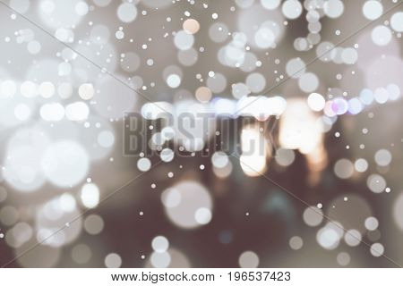 Abstract background. Bronze colored White blur. Circle blur