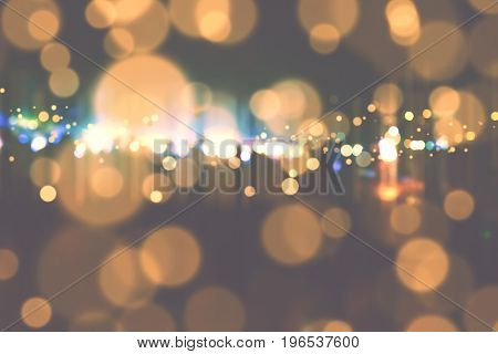 Abstract background. Bronze gold-colored blur. Circle blur