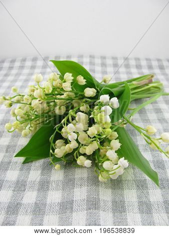 A bunch of fresh lily of the valley
