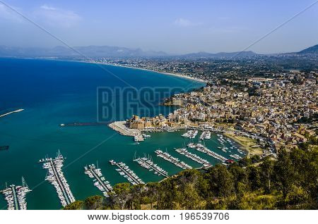 In Italy Sicily near Palermo you will find this old fishing port and new mooring of yachts