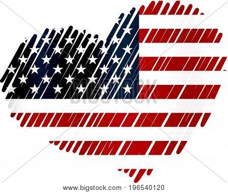 united states flag heart metal texture national  patriot