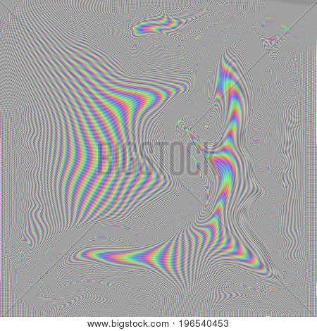 High resolution RGB distortion pattern often seen on your TV.