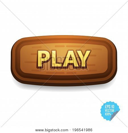 Colorful Button With Play Tittle. Bright Vector Button For Web And Mobile.