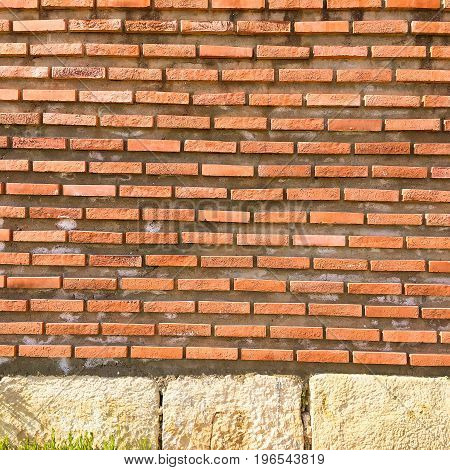 Brick wall texture brick wall background brick wall for interior or exterior design with copy space for text or image. Red organic brick wall texture background