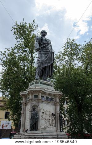 Monument to the hero of the Risorgimento Manfredo Fanti, Florence