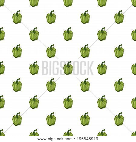 Green pepper pattern seamless repeat in cartoon style vector illustration
