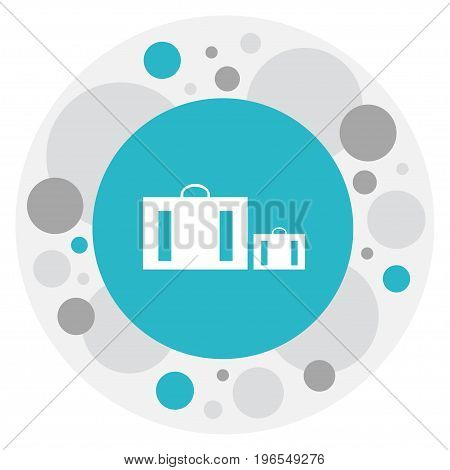 Vector Illustration Of Holiday Symbol On Suitcase Icon