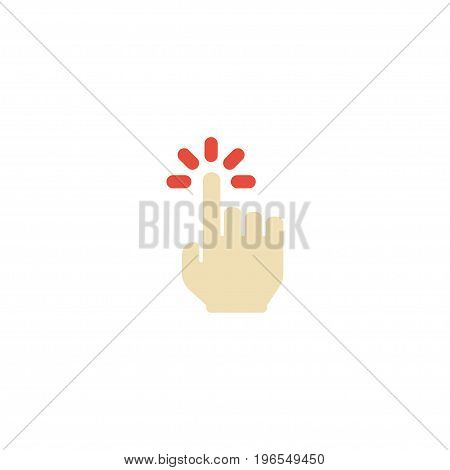 Flat Icon Sensory Element. Vector Illustration Of Flat Icon Touch Isolated On Clean Background