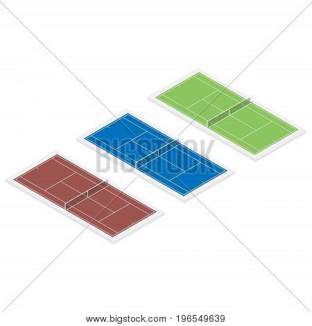 Isometric Tennis Field