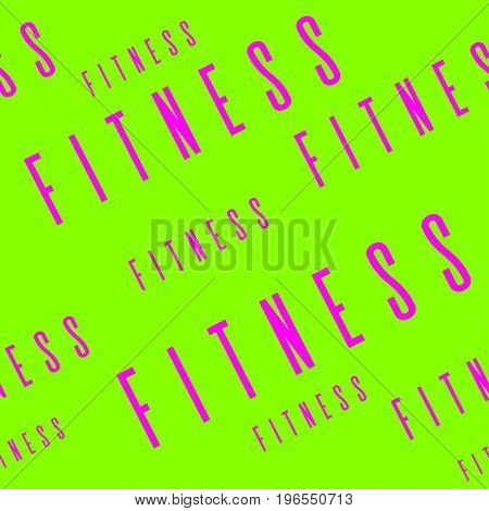 Kinesio tape horizontal seamless pattern or background. Fitness girl design elements, gym label, sport textile fabric vector