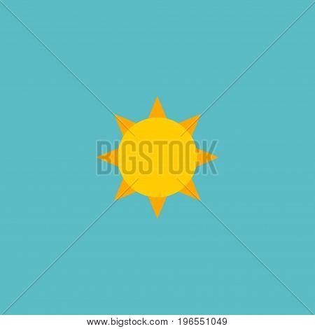 Flat Icon Sun Element. Vector Illustration Of Flat Icon Solar Isolated On Clean Background
