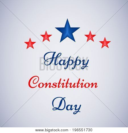 illustration of stars with Happy Constitution Day text on the occasion of USA Constitution Day