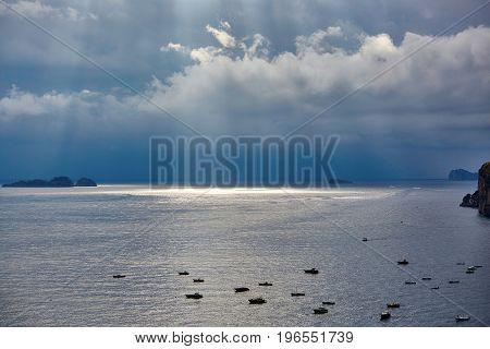 Fishing Boats In Positano, Amalfi Coast, Italy