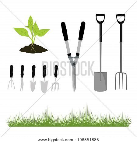 Garden Tools And Grass