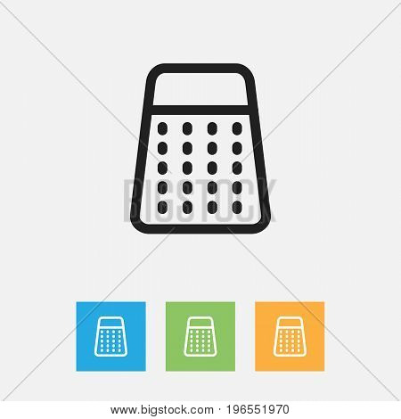 Vector Illustration Of Food Symbol On Grater Outline