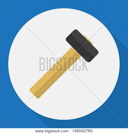 Vector Illustration Of Apparatus Symbol On Hammer Flat Icon