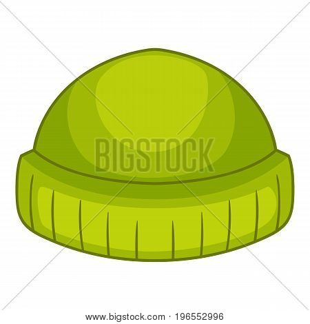 Beanie icon. Cartoon illustration of beanie vector icon for web design