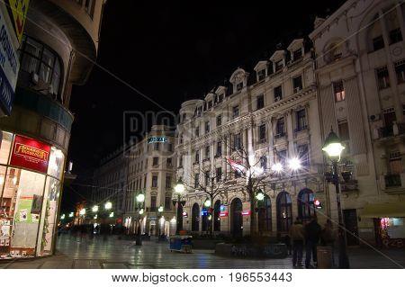 22 march 2009-belgrado-serbia-Belgrade belgrade lights illuminated at night serbia