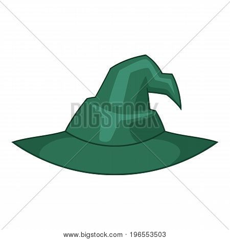 Witch hat icon. Cartoon illustration of witch hat vector icon for web design