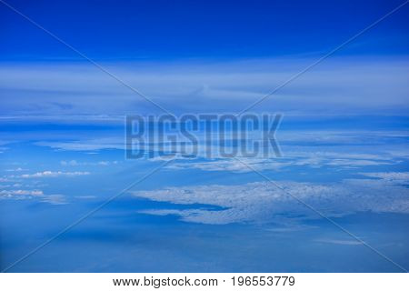 Beautiful blue sky and clouds for background