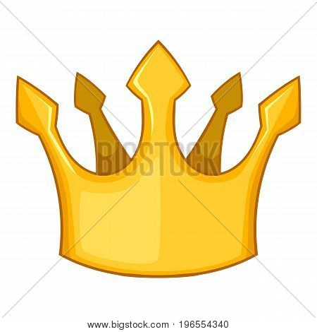 Knight crown icon. Cartoon illustration of knight crown vector icon for web design