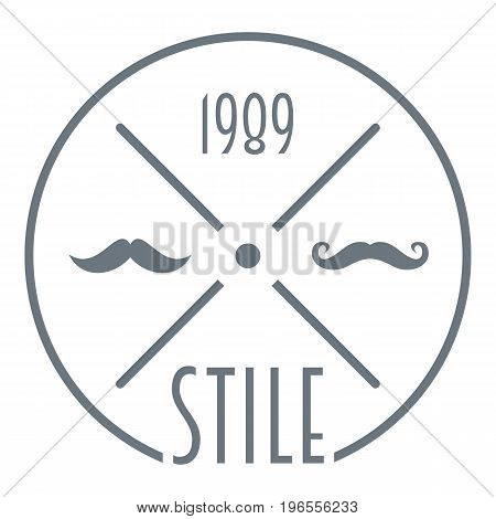 1989 style logo. Simple illustration of 1989 style vector logo for web design
