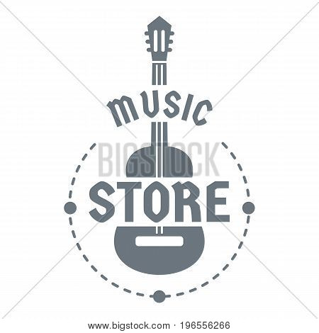Music store logo. Simple illustration of music store vector logo for web design
