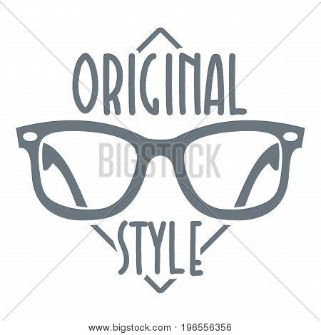 Original style logo. Simple illustration of original style vector logo for web design