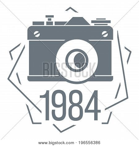 1984 photo camera logo. Simple illustration of 1984 photo camera vector logo for web design