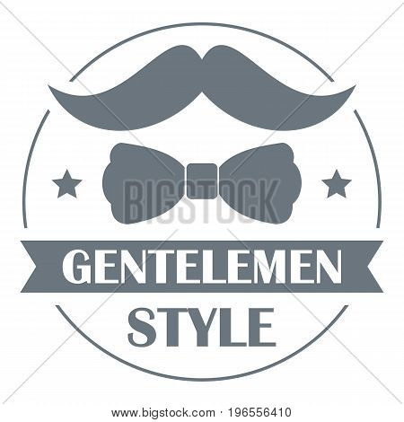 Gentlemen style logo. Simple illustration of gentlemen style vector logo for web design