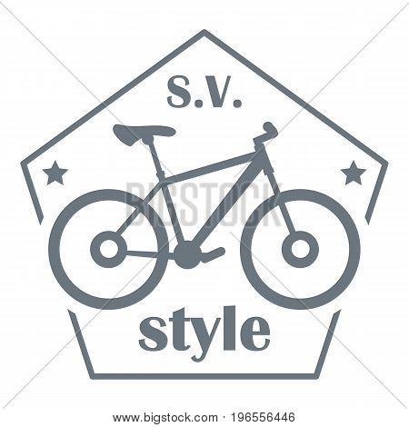 SV bike style logo. Simple illustration of SV bike style vector logo for web design